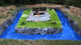 Build Swimming Pool Around Underground House - Full Video