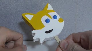 Tails the Fox Popsicle with Gumball Eyes