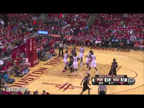 Damian Lillard Full Highlights at Rockets 2014 Playoffs West R1G2 - 18 Pts, 11 Assists