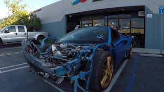 REBUILDING A WRECKED FERRARI 488 SPIDER FROM COPART