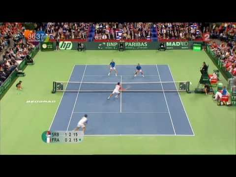 [Coupe Davis 2010 - France / Serbie] Highlights : Llodra / Clment - Trocki / Zimonjic (16:9) Music Videos