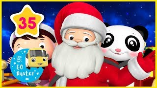Wheels on the Sleigh | Little Baby Bus | Christmas Nursery Rhymes | Songs for Kids