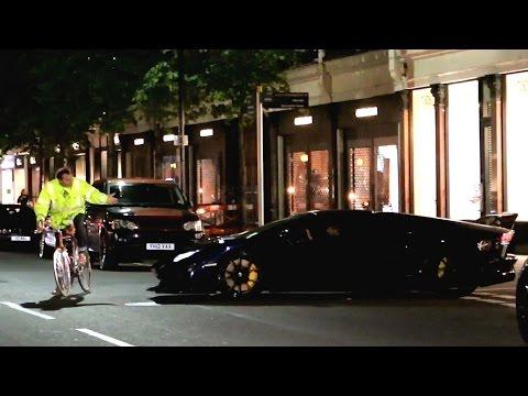 Lamborghini Aventador vs Cyclist