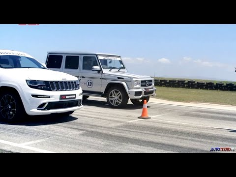 DRAG RACE: Jeep Grand Cherokee SRT8 vs. Mercedes-Benz G63 AMG