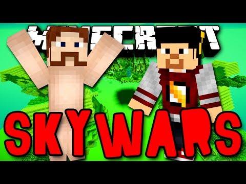 SKYWARS - LUTANDO COMPLETAMENTE NÚ!! (c/ Edu) - Minecraft