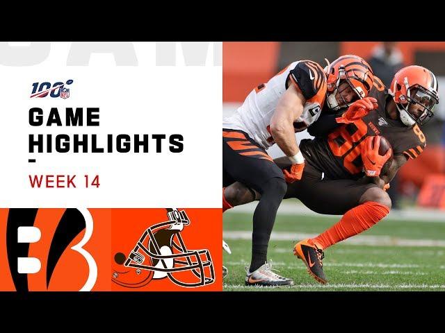 Bengals vs. Browns Week 14 Highlights | NFL 2019 thumbnail