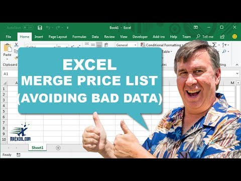 "Learn Excel - ""Merge Price List (with Bad Data)"" - Podcast #1733"