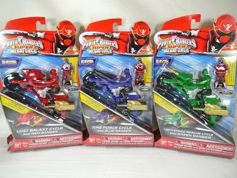 Review: Lost Galaxy, Lightspeed Rescue, & Time Force Cycles (Power Rangers Super Megaforce)