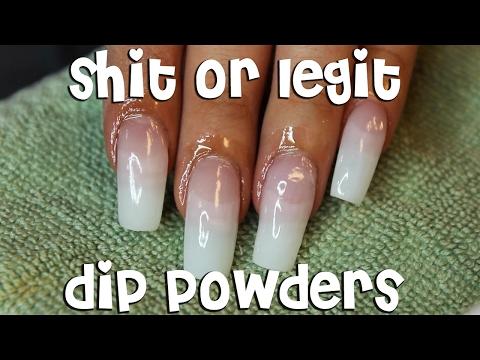 SH*T OR LEGIT: NAIL DIP POWDERS feat. KIARA SKY