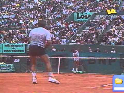 Johan Kriek beats Guillermo Vilas - Roland Garros 1986 Quarter Final / 4th Set
