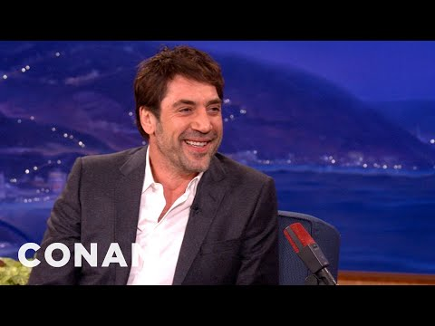 Javier Bardem Is No Man Of Action - CONAN on TBS