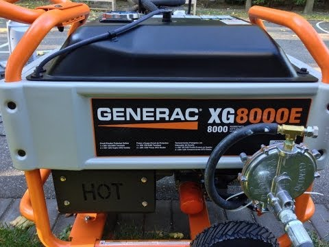 Generac XG8000E Portable Generator Conversion Natural Gas - Snorkel Kit