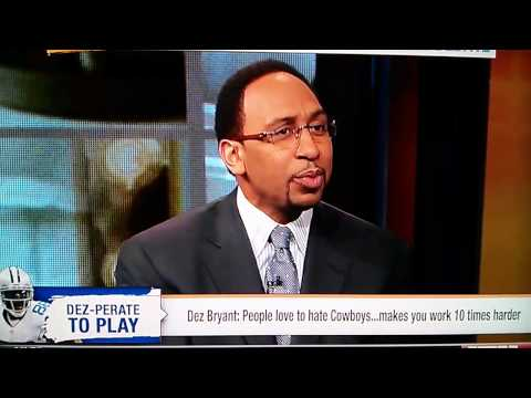 Stephen A. Smith finally destroys the Cowboys on First Take on 4/9/13