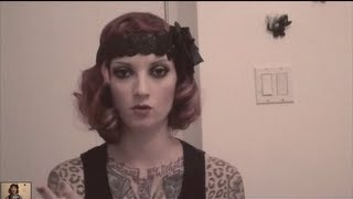 Great Gatsby Vintage Fingerwave 1920s flapper hair tutorial by CHERRY DOLLFACE