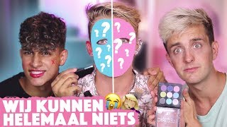JONGENS proberen BASIC MAKE UP 2  💅🏻😂 | Met Glen Fontein & Sepanta Arya