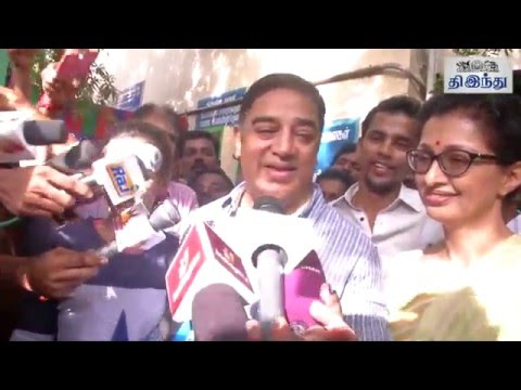 Kamal Haasan & Rajinikanth Casting their Votes   Tamil The Hindu