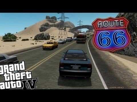 GTA IV LCPDFR Route 66 Police Patrol - Day 1 - Exploring The New Map!