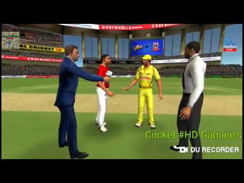 CSK VS KXIP IPL 2018, FULL MATCH HIGHLIGHTS // Real cricket 18 gameplay //