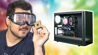 Building a computer with DRUNK GOGGLES! - ft. RX 5500 XT