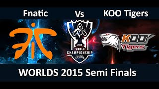 FNC vs KOO Game 1 Highlights S5 Worlds Semi Finals Season 5 Fnatic vs Koo Tigers