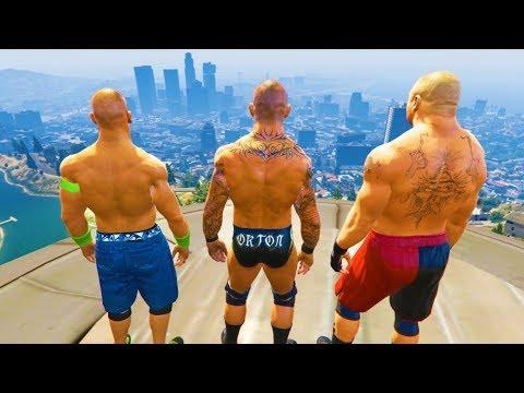 GTA 5 Randy Orton John Cena Compilation #5 (GTA 5 WWE Fails Funny Moments)