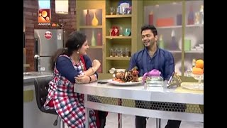 Annies Kitchen With Film Actor Manikuttan |  Stuffed Chicken Roast |