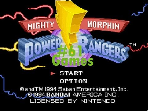 Games: Mighty Morphin Power Rangers - Super Nintendo video