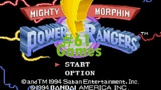 Games: Mighty Morphin Power Rangers - Super Nintendo
