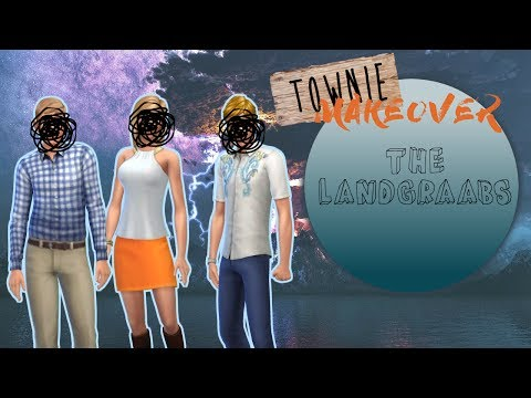 townie makeover: the landgraabs (nancy, geoffrey, malcolm) | the sims 4 townie tuesday