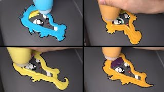 My Little Pony baby Pancake art - Applejack, Rainbow Dash, Fluttershy, Scootaloo