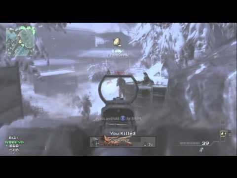 Modern Warfare 3 Gameplay - 5 Man Spray w/ SCAR and Predator Missile Quad