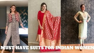 MUST HAVE SUITS FOR INDIAN WOMEN | FESTIVE & WEDDING ETHNIC WEAR | shimmerandmusebysapna