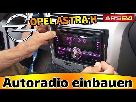 AUTORADIO-EINBAU OPEL ASTRA H - ARS24 EINBAU-TUTORIAL