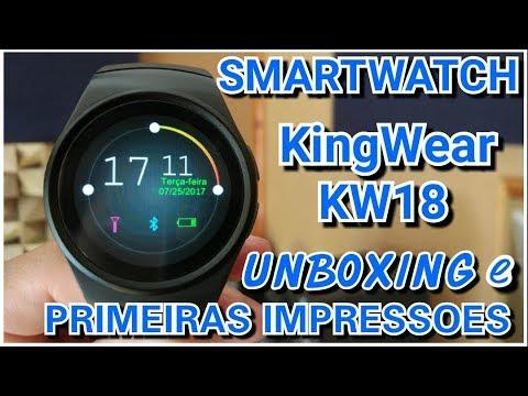 Smartwatch KINGWEAR KW18 Unboxing - Dos MAIS BONITOS que já TIVE !!!!  Unboxing EM PORTUGUES