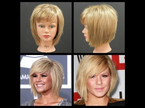 Kimberly Caldwell Haircut Medium Length Shag Bob Tutorial | TheSalonGuy