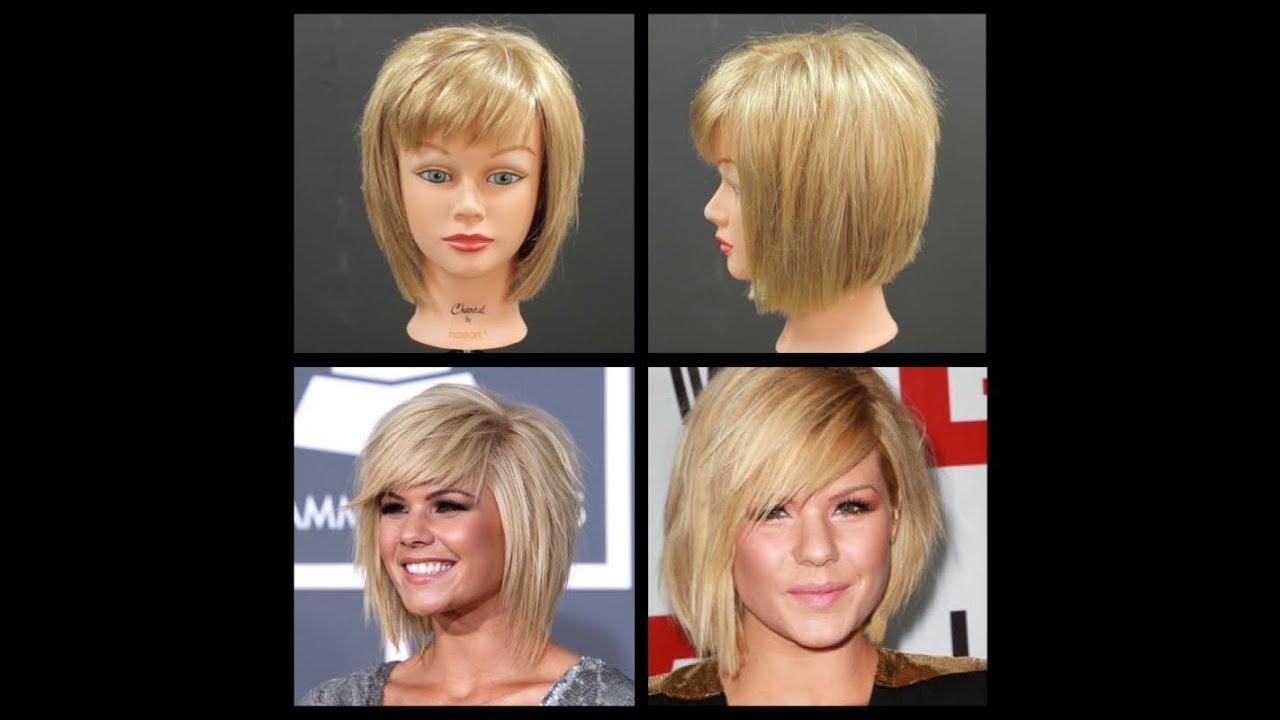Kimberly Caldwell Haircut - Medium Length Shag Bob Tutorial | TheSalonGuy - YouTube