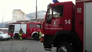 Incendie dans un dpt  ct de la gare AOMC  Monthey
