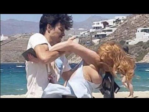 Lindsay Lohan and Egor Tarabasov fight Caught on Camera HD