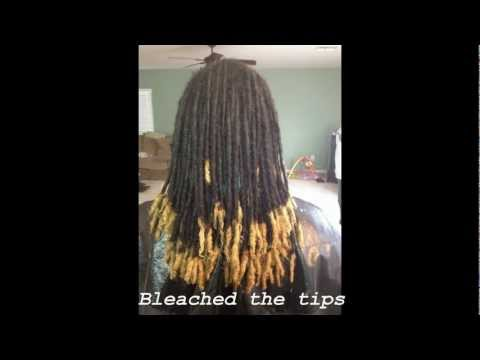 Dreadlock journey 12. 3 years (dyed my tips)