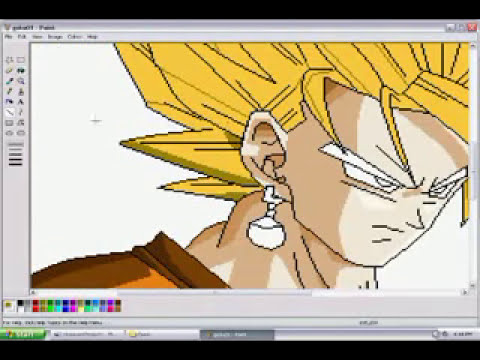 MS Paint - Dibujando a Goku