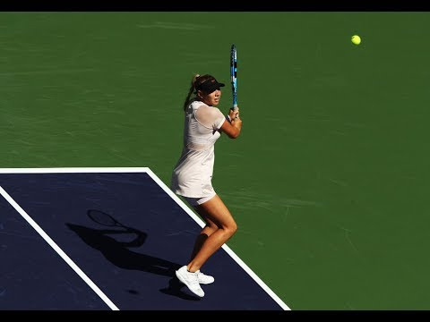 2018 Indian Wells Third Round | Amanda Anisimova vs. Petra Kvitova | WTA Highlights