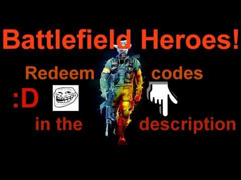 Battlefield Heroes redeem codes 2013! :D