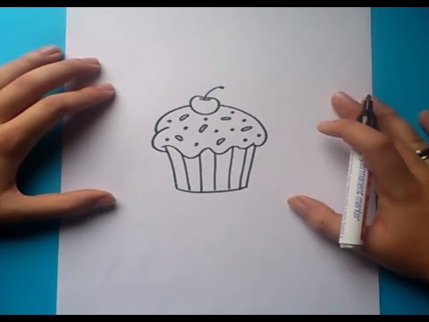 Como dibujar un pastel paso a paso 3 How to draw a cake 3