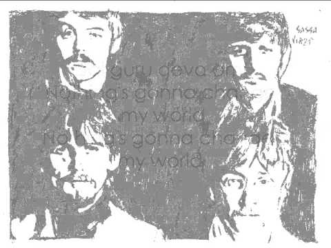 Beatles Cover - Across the universe with lyrics (testo)