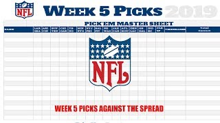 Week 5 Picks Against the Spread! With Kidblue!