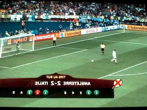 penaltys du match: ITALIE-ANGLETERRE