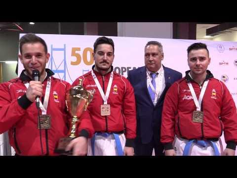 Interview to Male Team Kata SPAIN. Gold medalists. European Kata Champions