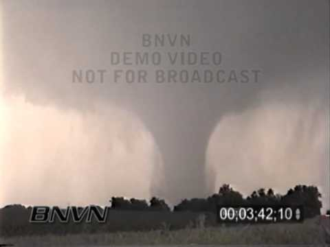 6/13/2001 Seward Nebraska Tornado Stock Video