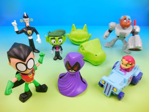 McDONALDS TEEN TITANS GO! 2017 SET OF 6 HAPPY MEAL KIDS TOYS VIDEO REVIEW