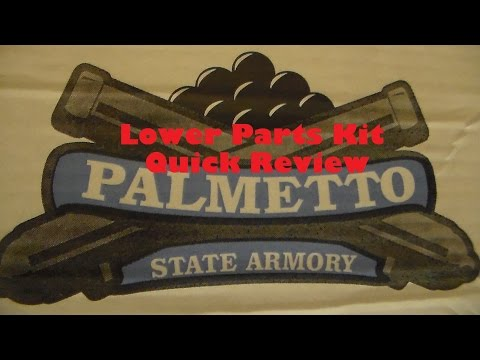 Palmetto State Armory Lower Parts Kit Quick Review